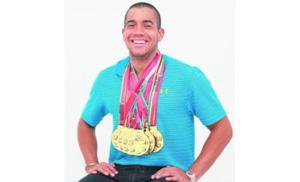 Crespo y sus seis medallas de oro. Foto: Anayansi Gamez