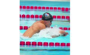 Edgar Crespo fue uno de los nadadores destacados. Foto: Archivo