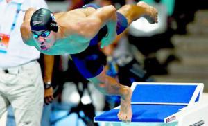Edgar Crespo, durante la prueba de 50m braza masculinos de los Campeonatos del Mundo de Natación. Foto: Archivo